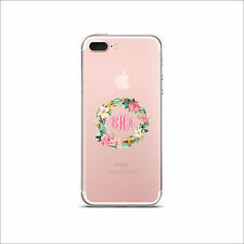 Clear Transparent Cell Phone case Monogram iPhone X & XS Max 11 Pro & Max