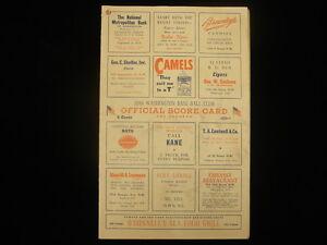 1946 St. Louis Browns @ Washington Senators Official Score Card