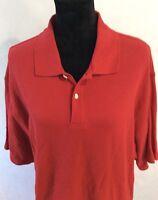 L.L Bean Mens Size L-Reg 100% Cotton S/S Polo Shirt Red