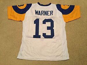 UNSIGNED CUSTOM Sewn Stitched Kurt Warner White Jersey - M, L, XL, 2XL