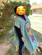 mexican shawl , jorongo ,poncho, gaban, cape new reboso , serape , thread