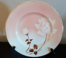 Syracuse Madam Butterfly Old Ivory Dinner Plates x1 White Flowers Brown Leaves