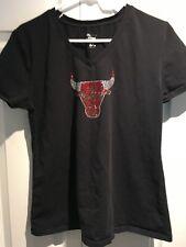 Women's Chicago Bulls T-Shirt Size XXL Black t Shirt Short Sleeve