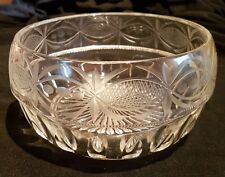 Vintage Sowerby  Etched Glass Bowl