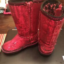 SKECHERS girls 7 Eur 23 Sequins Tall Boots Sparkle EUC Toddler