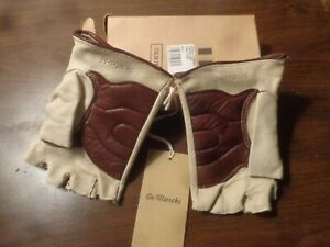 Vintage DEMARCHI new old stock deluxe leather cycling gloves
