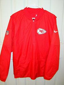 Nike Dri Fit On Field Apparel KC Chiefs Red 1/2 Zip Windbreaker Jacket sz Medium