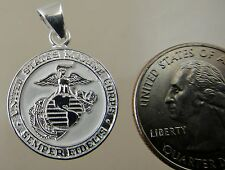 US MARINE CORPS USMC LICENSED EGA SEAL PENDANT 22MM