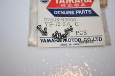 NOS Yamaha motorcycle screws 6pcs. yj1 yd3 yg1 yL1 ym1 yr2 flasher lens screw