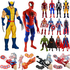 Superhero Avengers Spiderman Hulk Iron Man Action Figure Toy Doll Launcher Gifts