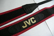 """Genuine Vintage 1980s JVC Wide Camera Neck Shoulder Strap 43"""" Black & Red"""