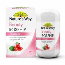 Nature's Way Beauty Rosehip +Collagen 60S Enchance Skin Health Regeneration