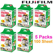 Pack 100 Fujifilm Instax Mini Instant Camera Sheet Fuji Polaroid 7s 8 25 90 300