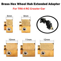 4PCS Brass Hex Wheel Hub Extended Adapter 6/8/10/11/12mm For TRX-4 RC Crawler