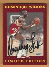 DOMINIQUE WILKINS 1992 FLEER  LIMITED EDITION AUTOGRAPH CARD #2 OF 12
