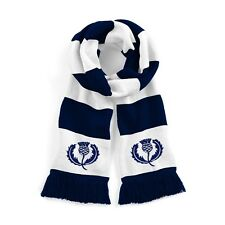 Retro Scotland National Rugby Traditional Scarf with Embroidered Logo