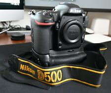 Nikon D500 DSLR (Body Only) with Grip, Battery, Charger, Strap, 128GB SD Card