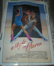 1983 A NIGHT in HEAVEN 1 SHEET MOVIE POSTER CHRISTOPHER ATKINS LESLEY ANN WARREN
