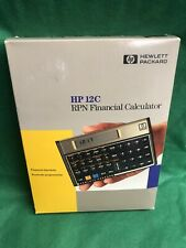 Hewlett Packard Hp12C Financial Calculator Working with Case and Manual + Box