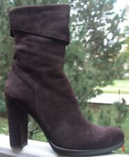 Renzi By Gianmarco Lorenzi Made In Italy Dark Brown Boots EU 39 Shoes Heels 4""