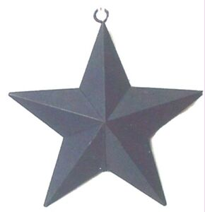"""BLUE metal 5.5"""" star country primitive wall ornament stars decor rustic sign"""