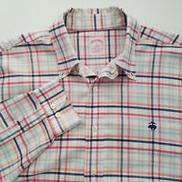 Brooks Brothers Mens Plaid Button Front Long Sleeve Casual Shirt Size Large V305