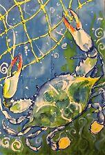 "New listing Blue Crab Flagcenter House Flag 28"" x 40"" # 03043"