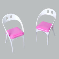 Detachable Mini Plastic Chair Toy for Barbie Doll House DIY Accessories CA