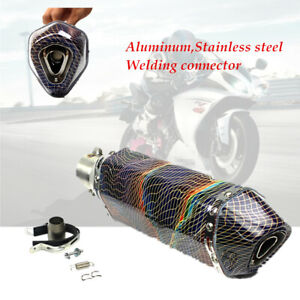Motorcycle Stainless Welding Exhaust Muffler Pipe 38-51mm Modified Parts Durable