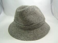 """Kangol Fedora Hat 22"""" Gray Fitted Cap Made England"""