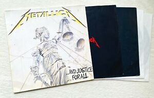 METALLICA and justice for all 2x LP 1.Press 1988 Megadeth Slayer PUSHEAD Anthrax