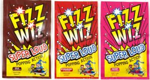 5 x Fizz Wiz Popping Candy Cherry Cola Strawberry Flavour Kids Party Bag