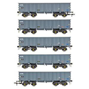 Accurascale ACC2114VTG, OO gauge, PTA/JTA+JUA BOGIE TIPPLER PACK - VTG GREY
