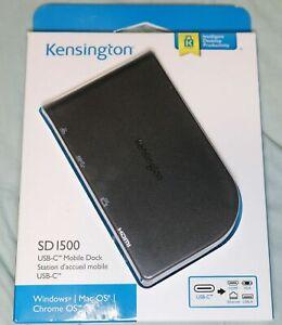 Kensington SD1500 USB-C Mobile Dock 4K HDMI or HD VGA -Windows/Chrome/M K33969WW