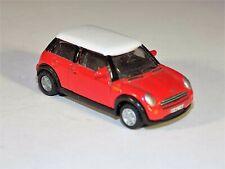 H0 Scale 1:87 Siku 1872 Mini Cooper Red W/ White Roof