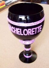 Bachelorette decorated black chalice cup party gag gift mug