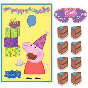 "Peppa Pig Party Game ""Give Peppa her Cake"" for 2 - 8 Players - Party Supplies"