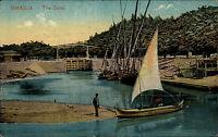 Ismailia Jsmailia Ägypten Egypt ca. 1910 Canal Kanal Fischer Fisherman Segelboot