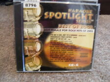 SOUND CHOICE SPOTLIGHT SERIES KARAOKE 8796 BEST FEMALE POP ROCK HITS 2002 CD+G