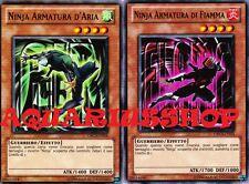 Yu-Gi-Oh! Ninja Armatura d'Aria x3 ORCS-IT014 armatura di Fiamme ORCS-IT013 x 3