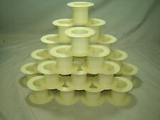"25 Plastic Air Core Inductor Bobbins -- 3 5/8"" X 2 3/8"""