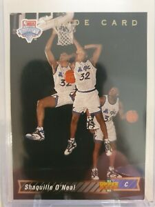 1992-93 UPPER DECK SHAQUILLE O'NEAL NBA DRAFT TRADE CARD ROOKIE #1B