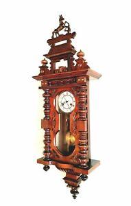 Vienna Regulator Keyhole Wall Clock FRIEDRICH MAUTHE German ANTIQUE c1920