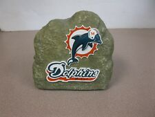 Miami Dolphins FAKE ROCK WITH LOGO ON IT.