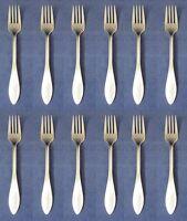 SET OF TWELVE - Oneida Stainless MORRISON Salad Forks NEW