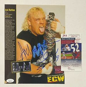 Axl Rotten WWF WWE ECW Signed Autograph Auto Magazine Photo JSA COA d. 2016