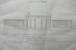 Elevation of Propylaea Acropolis of Athens Greek Architecture Antique Print 1808