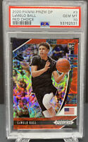 2020 Panini Prizm DP LaMelo Ball Red Choice ROOKIE /88 #3 RC PSA 10 GEM Hornets
