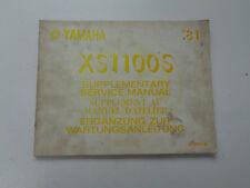 Yamaha XS1100S ´81 Ergänzung zum Wartungsanleitung - gebraucht!