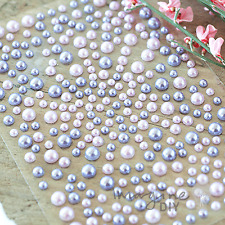 Self Adhesive Pearls - Pink and Lilac